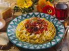 Spaghetti mit Geflügelleber-Tomatenragout Rezept