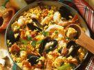 Spanische Paella mit Muscheln Rezept