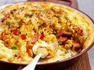 Spanische Reispfanne mit Chorizo und Eiern Rezept