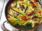 Spargel-Gemüse-Auflauf mit Hähnchen Rezept