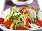 Spargel-Tomaten-Carpaccio mit Sesam-Vinaigrette Rezept