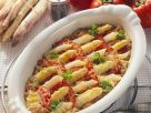 Spargel-Tomatengratin mit Dinkel Rezept