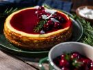 Spekulatius Cheesecake mit Kirschen und Rosmarin Rezept