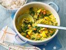 Spinat-Curry mit Erdnüssen Rezept