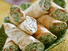 Spinat-Käse-Wraps Rezept