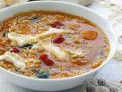 Spinat-Linsen-Suppe mit Weichkäse Rezept