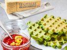 Spinatwaffeln mit Le Gruyère AOP und Tomatensalsa Rezept
