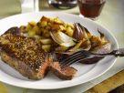 Steaks mit Kartoffelwürfeln Rezept