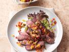 Steaksalat mit Paprika-Mandel-Salsa Rezept