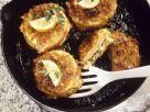 Steckrübenbratlinge mit Käse und Schinken gefüllt Rezept