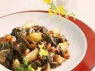 Straussenragout mit Pilzen Rezept