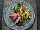 Strip-Steak mit Ramen-Nudeln und Gemüse Rezept