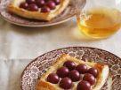 Süße Blätterteigschnitten mit Weintrauben Rezept
