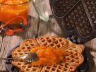 Süße Waffeln mit Orangenmarmelade Rezept