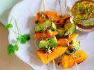 Süßkartoffel-Avocado-Spieße Rezept