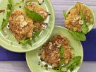 Süßkartoffelpuffer auf Löwenzahn Rezept