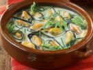 Suppe mit Miesmuscheln, Estragon und Anislikör (Pastis) Rezept