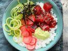 Sushi-Bowl mit Thunfisch und Radieschen Rezept