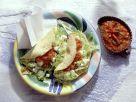 Tacos mit Salat und Mozzarella Rezept