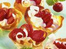 Teigschalen mit Erdbeeren Rezept