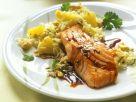 Teriyaki-Lachsfilet mit Ananasreis Rezept