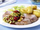 Thunfisch mit Gemüse und Kirschen Rezept