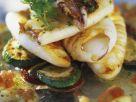 Tintenfisch mit Ratatouille-Gemüse Rezept