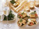 Toasts mit Hähnchen, Spargel und Orangen Rezept