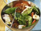 Tomaten-Spinat-Salat mit Ziegenkäse Rezept