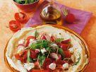 Tomatensalat auf Fladenbrot Rezept