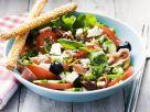 Tomatensalat mit Schafskäse und Schinken Rezept