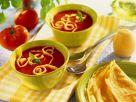 Tomatensuppe mit Pfannkuchen Rezept
