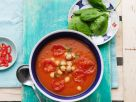 Tomatensuppe mit Süßkartoffel, Spinat und Kichererbsen Rezept