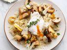 Topisotto mit Pilzen und pochiertem Ei Rezept