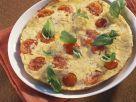 Tortilla mit Tomate und Basilikum Rezept