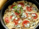 Tortilla mit Tomaten, Hackfleisch und Blauschimmelkäse Rezept