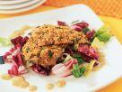 Überbackene Forelle auf Salat Rezept