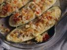 Überbackene, gefüllte Zucchini Rezept