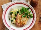 Überbackene Schnitzel mit Portulak-Stampf Rezept