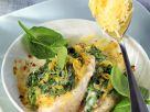 Überbackener Fisch mit Spinat Rezept