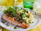Überbackener Lachs mit Kartoffeln Rezept
