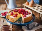 Vanille-Käsekuchen mit Himbeeren Rezept