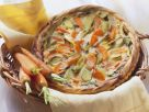 Karotten-Lauch-Quiche mit Pinienkernen Rezept