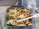 Veganes Pastagratin mit Birne und Radicchio Rezept