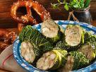 Vegetarische Wirsingrouladen mit Breznfüllung Rezept