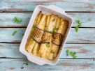 Vegetarischer Spargelauflauf mit gegrillter Aubergine Rezept