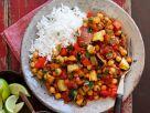 Vegetarisches Linsen-Chili mit Reis Rezept