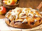 Versunkener Apfelkuchen mit Mandeln Rezept