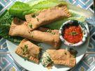 Vollkorn-Teigtaschen mit Kräuter-Käse-Füllung und Tomatensauce Rezept