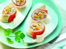 Warme Wraps mit Hähnchen-Salami Rezept